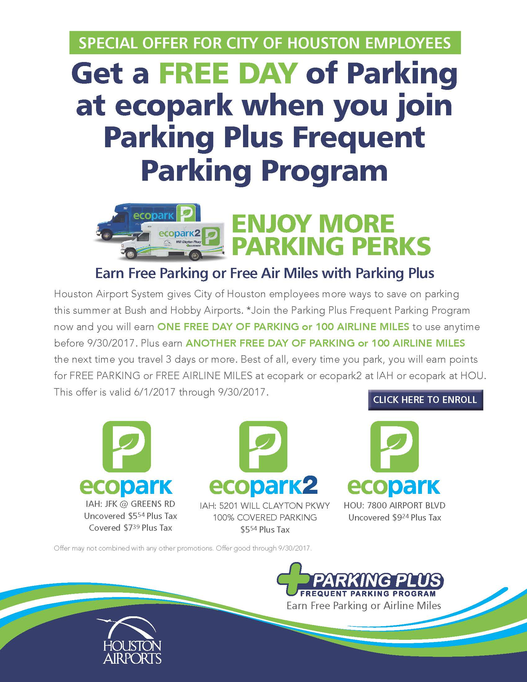 PARKING PLUS EMAIL HOUSTON  EMPLOYEES 060117