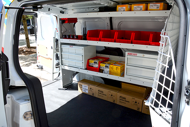 Inside of Community outreach vehicle