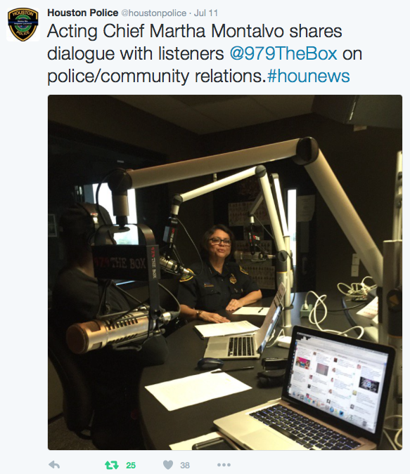 Acting Chief Martha Montalvo shares dialogue with listeners of @979TheBox on police/community relations.