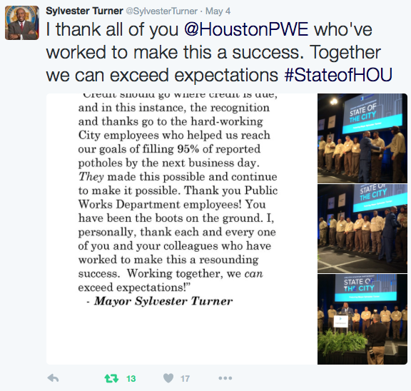 Turner: I thank all of you at PWE who've worked to make this a success. Together we can exceed expectations