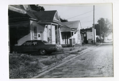 The Hilliard Taylor Photo Collection  Houses along a street in 4th Ward.