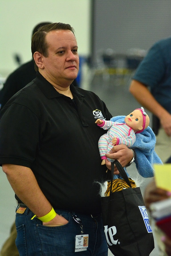 Hurricane evacuation exercises in early June at the George R. Brown Convention Center.