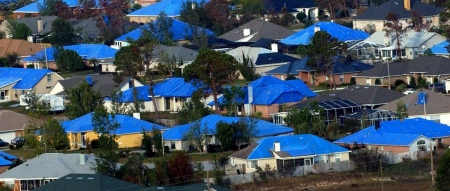 City launches program to repair tarp-covered roofs