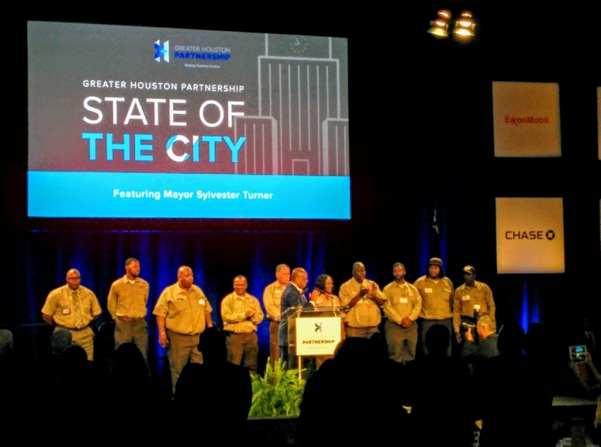 During the State of the City address, 10 Public Works & Engineering employees got a standing ovation for their hard work on the mayor's pothole initiative.