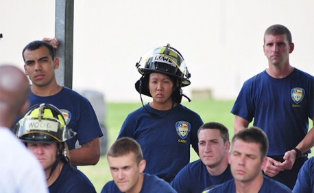 Fire cadet Racheal Fields is one of three females in the city's 2013 Bravo Firefighter Trainee Academy Class that started with 70 cadets. Four months into the class, 62 cadets remain with all three female cadets still in training to join the city's more than 3,727 currently active firefighters.