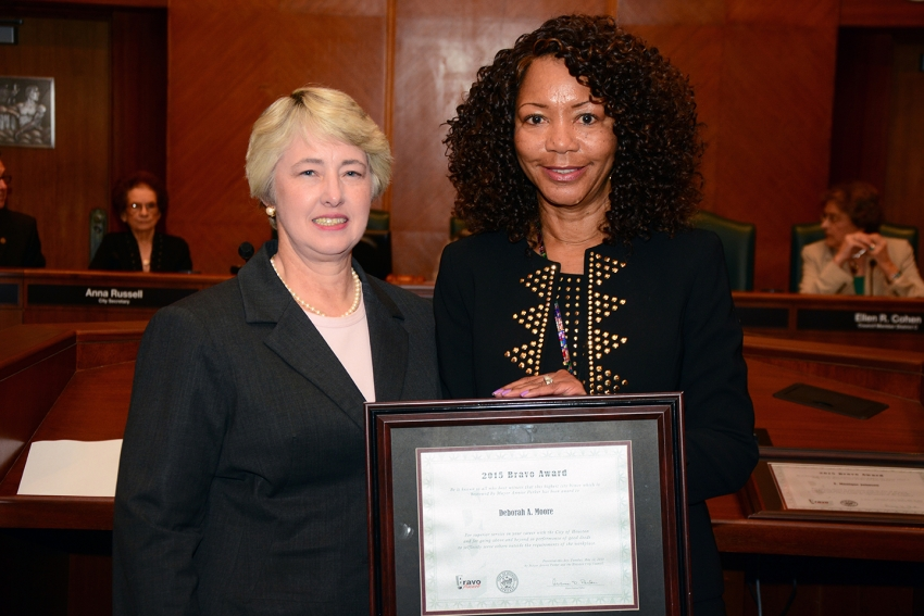 Bravo recipient:  Deborah Moore offers comfort and guidance to those in need