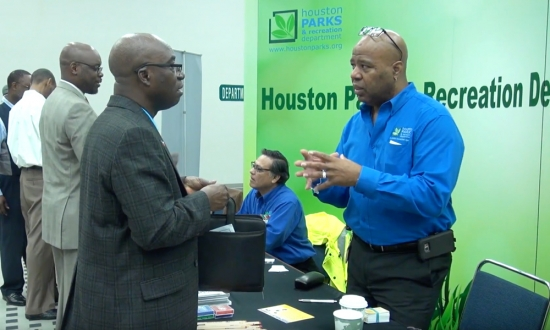 How is Houston helping small businesses grow?
