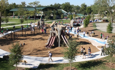 Unlike any other in Houston, this park has playground equipment in the shape of indigenous animals, exercise opportunities of all stripes, and almost unlimited educational possibilities.