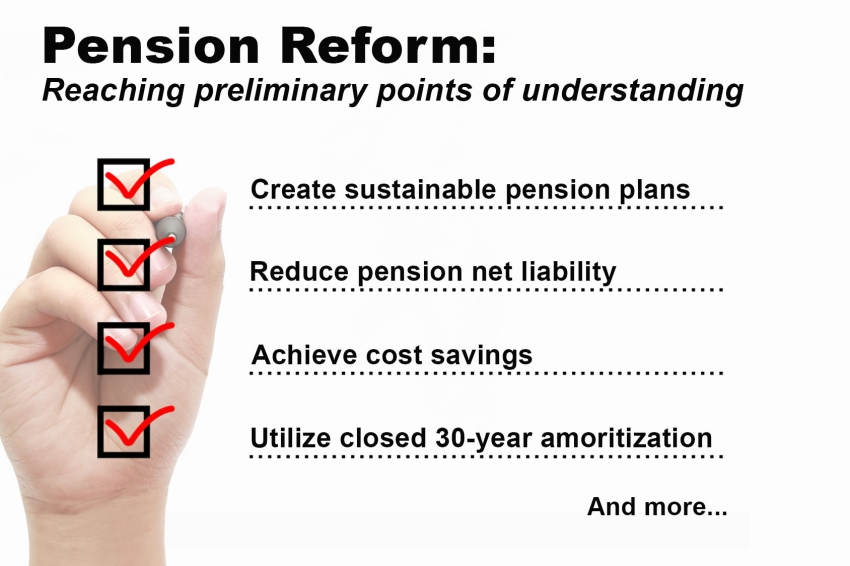 City and unions make progress toward sustainable pension reform