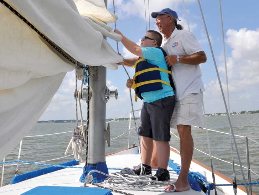 Capt. Dave McCabe, Sailing Angels Foundation executive director and founder, provides recreational therapy for children with special needs and their families. Sailing Angels is one of more than 700 organizations city employees can support through CMC.