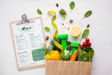 paper bag full delicious organic food diet menu 23 2148322495