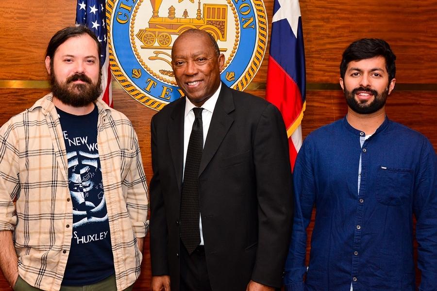 Think Thank Ideas: (left to right) Jon Roberts, Mayor Tuner and Abhinav Kumar.