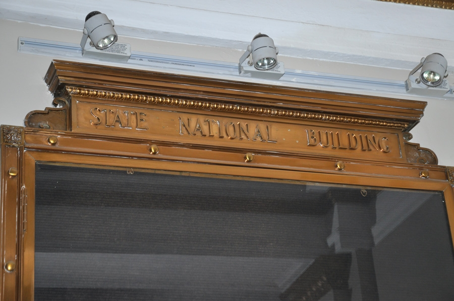 Historic interior details of the State National Bank will be preserved when the building is converted into a hotel.