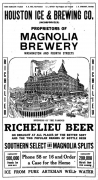 Advertisement from the Houston Ice and Brewing Company.
