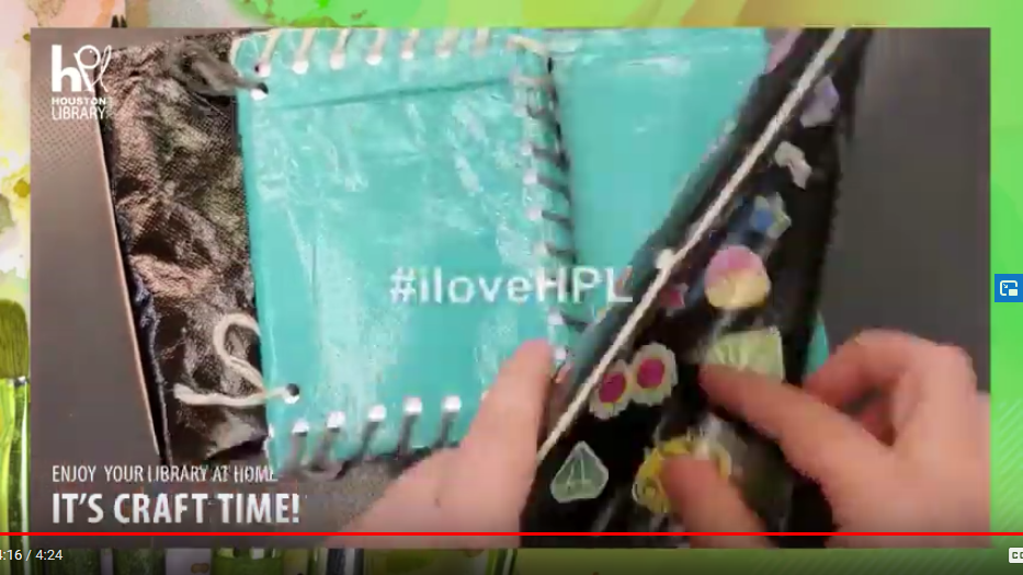 HPL Craft Time: DIY Journal