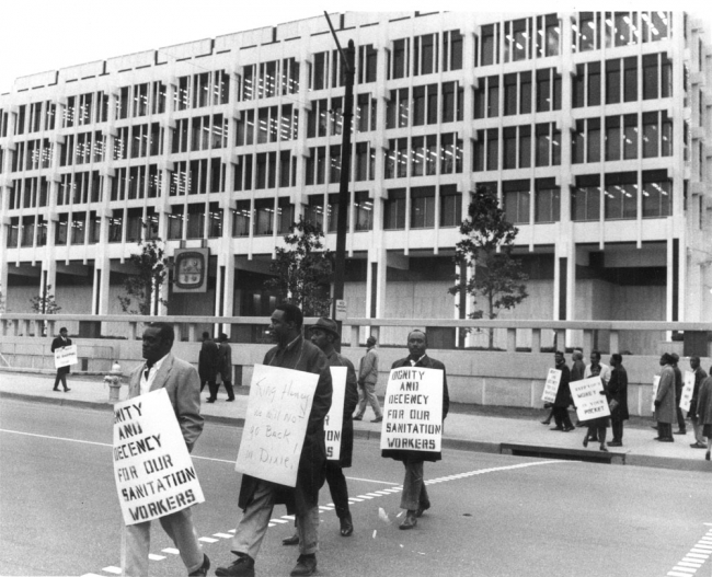 Memphis sanitation workers' strike of 1968.