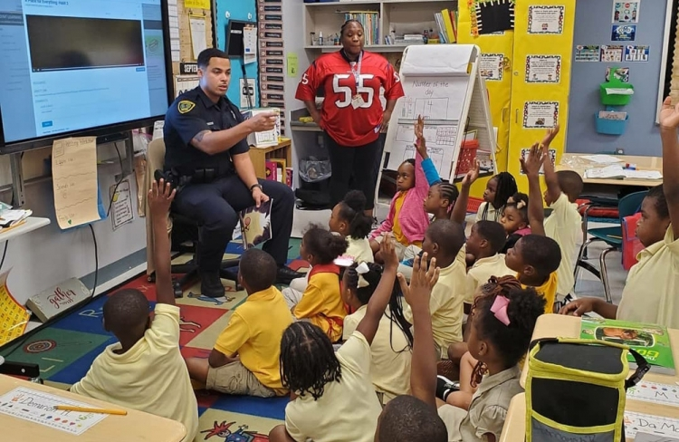 Sergeant Jeremy Lahar spent a lot of time engaging local youth and residents through programs he founded while serving in HPD's Public Affairs Division.