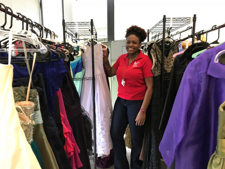 Ruby Robinson launched a program to give free prom dresses to girls in storm-damaged neighborhoods.