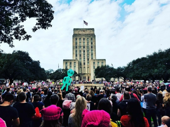 Women's March brings record-setting crowds to City Hall
