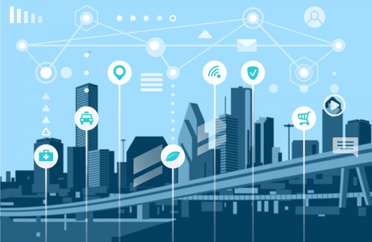 Smart city vision to provide solutions to city challenges