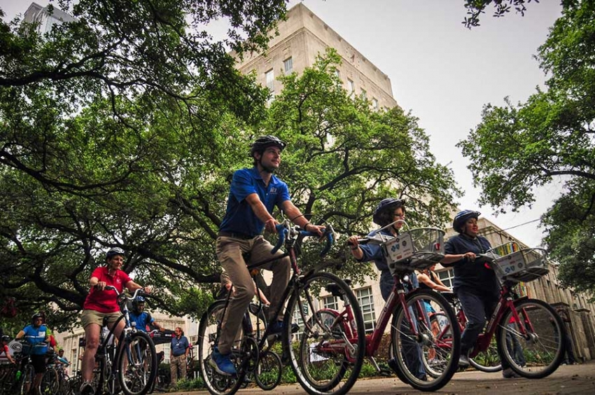 City of Houston employees will be able to start their workday with a brisk bike ride on May 19 in celebration of Ride Your Bike to Work Day