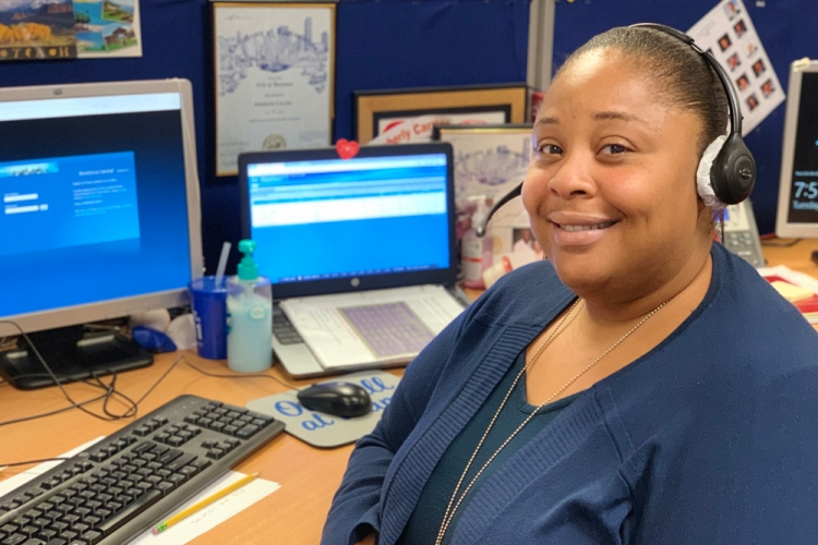 Kimberly is part of the 75-employee 311 customer service team that responds to resident's urgent issues.