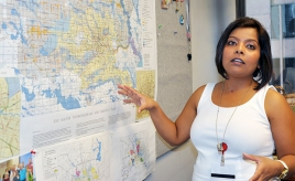 Dipti Mathur-Ghorpade, a planner leader for the Planning and Development Department, has gotten to know the maps of Houston like the back of her hand. She is a key part of the department's efforts to prepare for Planning Commission meetings and the city's urban planning projects.