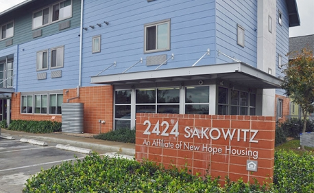 Located in Houston's Fifth Ward, properties like New Hope Housing's 2424 Sakowitz are an example of high quality single room occupancy housing that the city is integrating into its solution to end chronic homelessness. Low income housing plus supportive services will help take the city's most vulnerable citizens off the streets and stabilize their lives.