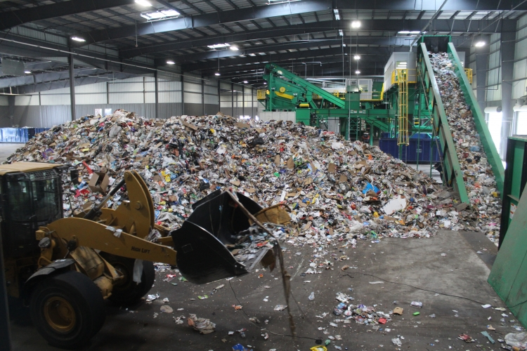A new 118,000-square-foot recycling materials recovery facility in northeast Houston can hold and sort up to 145,000 tons of recyclables per year.